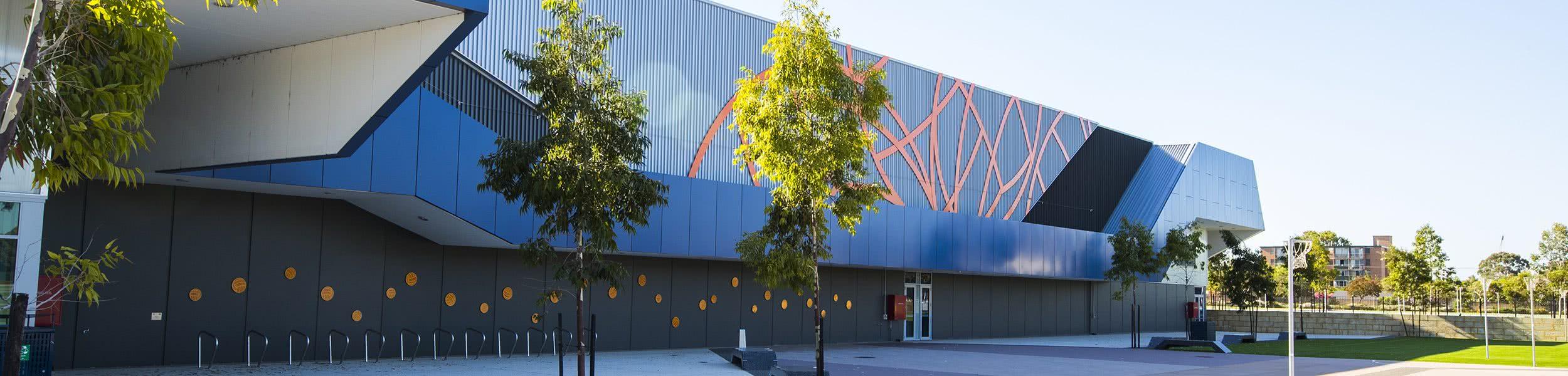 wa state netball centre cladding