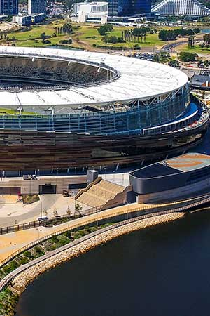 side building detail optus stadium in perth