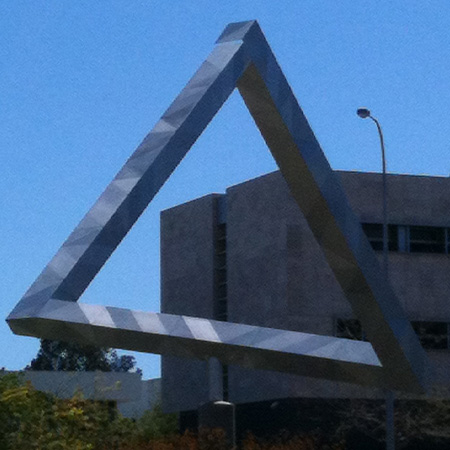 close up of triangle in east perth