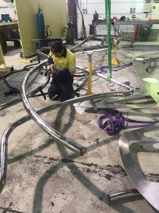 Fabrication process - Aurelia Apartments urban art