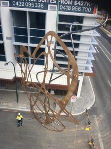 Jon Tarry urban art installation at Aurelia Apartments