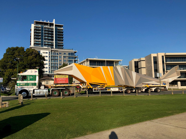 DENMAC truck delivery of numbat