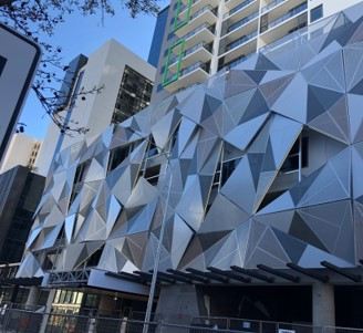 Facade by DENMAC at new NV apartments in Perth
